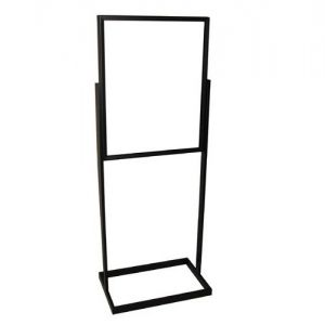 BLACK BULLETIN SIGN HOLDER RECTANGLE TUBE 22