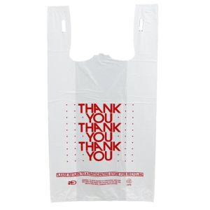 WHITE THANK YOU BAGS