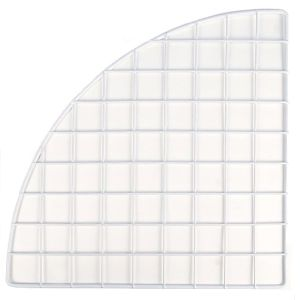 WHITE PLASTIC MINI GRID QUARTER PANEL